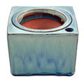 "6"" Sq Self Water Pot Ocean Blue"