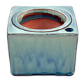 """6"""" Sq Self Water Pot Ocean Blue"""