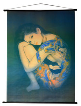 Tattoo Japanese Lady Wall Scroll Tapestry R15