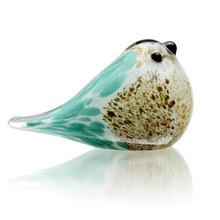 Art Glass Blue & Brown Bird