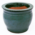 "8"" Rd Self Water Pot Jade"