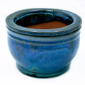 "6"" Rd Self Water Pot Caribbean Blue Stream"