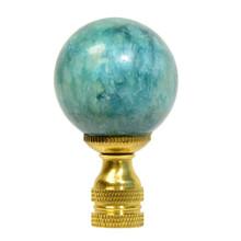 Green Jade Ball Lamp Finial
