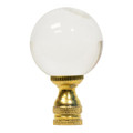 Clear Crystal Ball Lamp Finial