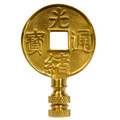 Brass Chinese Coin Finial