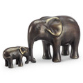 Brass Affectionate Elephant & Calf