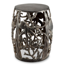 Outdoor Octopus Garden Stool Aluminum