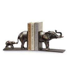 Elephant and Baby Book Ends