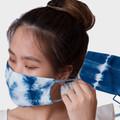 Tie dye cotton face mask