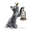 Aluminum Cat with Lantern
