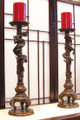 Bronze Tall Dragon Candle Holder