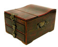 Leather Small Jewelry Box Red