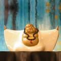 Clay Smiley Buddha White