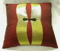 18 Red/Gold Mandarin Button Pillow Case