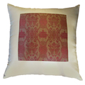 22in Silk Burgundy Twin Fish Pillow