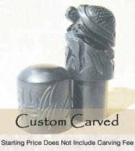 Black Turtle Ox Bone Custom Carve Chop
