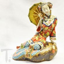 Porcelain Shanghai Lady With Parasol