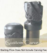 Black Koi Custom Carve Ox Bone Chop