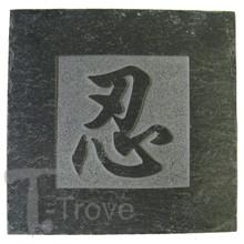Slate Tile Coaster with Patience Character