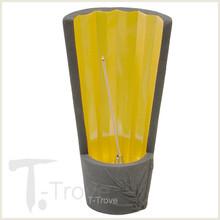Bamboo Black Ceramic Fan Incense Burner