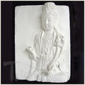 Dazzle and Glaze Lotus Quan Yin White Porcelain Tile