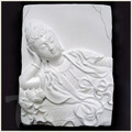 Sleeping Quan Yin White Porcelain Tile