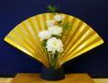 Golden Flaring Fan Sconce