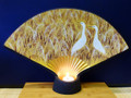 White Storks Flaring Fan Sconce