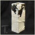White and Black Ink Rectangular Wall Vase