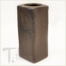 Dark Rust Rectangular Japanese Vase