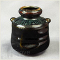 Black Wine Jar Bud Vase