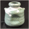 Green Wine Jar Bud Vase