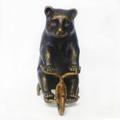 Metal Bear on Trike Paperweight