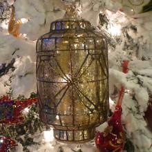 Gold Mercury Glass Lantern Ornament