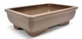 Purple Clay Rectangular Bonsai Pot 9x6.25x2.5in