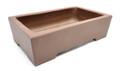Purple Clay Rectangular Bonsai Pot 7.5x4.25x2.5in