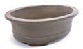 Purple Clay Oval Bonsai Pot 9.5X7.5X3in