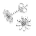 Sterling Silver Sunflower stud Earrings - SIZE: 8mm. 5976