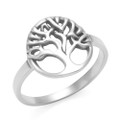 Sterling Silver Tree of life in circle Ring. 1097