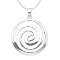 Sterling Silver Large Swirl Pendant - 29mm (plus 10mm bail & ring) 5.6gms - excluding chain. 8199