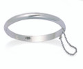 Sterling Silver Baby's round opening Bangle - size: 45mm 3091