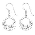 Sterling Silver Celtic  Earrings - Round with open middle - Size: 14mm 6045