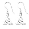 Sterling Silver Celtic Earrings - Celtic Trinity Drop Earrings - size: 9mm 6090
