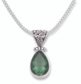 Sterling Silver Quartz pendant, ornate hinged top 8811EMQ BETTER THAN HALF PRICE