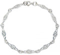 "Sterling Silver Celtic Bracelet 5mm x 180mm long (7"") 3131"