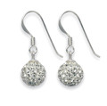 Silver, Clear disco ball drop 6mm - many tiny crystals 4700CL