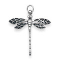 Sterling Silver Large Plain oxidised Dragonfly Pendant - SIZE: 28mm x 29mm 1.8gms 8095