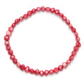 "Many Freshwater Pearls elasticated Bracelet - Dark Pink 7"" - 8"" Each Pearl approx:5mm x 6mm natural shape 3424DP"