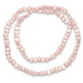 "Many Freshwater Pearl elasticated Necklace - Pink 18"" - ecah pearl approx 5mm x 6mm 8424PK"