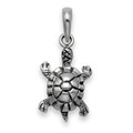 Sterling Silver Turtle Pendant  - Size: 10mm x 14mm 8119